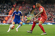 Nathaniel Clyne (Liverpool) during the Barclays Premier League match between Liverpool and Chelsea at Anfield, Liverpool, England on 11 May 2016. Photo by Mark P Doherty.