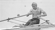 Nottingham. United Kingdom. <br /> BEL M1X Wim van BELLINGHAM<br /> Nottingham International Regatta, National Water Sport Centre, Holme Pierrepont. England<br /> <br /> 31.05.1986 to 01.06.1986<br /> <br /> [Mandatory Credit: Peter SPURRIER/Intersport images] 1986 Nottingham International Regatta, Nottingham. UK