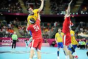 DESCRIZIONE : Handball Jeux Olympiques Londres Quart de Finale<br /> GIOCATORE : ANDERSSON Kim<br /> SQUADRA : Danemark Homme<br /> EVENTO : Handball Jeux Olympiques<br /> GARA : Danemark Suede<br /> DATA : 08 08 2012<br /> CATEGORIA : handball Jeux Olympiques<br /> SPORT : HANDBALL<br /> AUTORE : JF Molliere <br /> Galleria : France JEUX OLYMPIQUES 2012 Action<br /> Fotonotizia : France Handball Homme Jeux Olympiques Londres Quart de Finale Basketball Arena<br /> Predefinita :