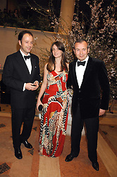 Left to right, MATTHEW VAUGHN and PIERS & SOPHIE ADAM at the Feast of Albion a sumptious locally-sourced banquet in aid of The Soil Association held at The Guildhall, City of London on 12th March 2008.<br />