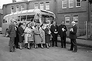 3/9/1964<br /> 9/3/1964<br /> 03 September 1964<br /> <br /> Members of the Legion of Mary Pilgrimage to Europe visiting the Central Governing Body Headquarters in Dublin.<br /> <br /> Joining them in the picture on the right, Mr. Frederick Charles Hallt the Director of the Catholic Travel Office in Washington D.C., Rev. FR. Allen M. Simpson Pastor at the St. Peter of the Field Church in Rootstown Ohio and Mr. Frank Duff President of the Irish Central Governing Body for the Legion of Mary.