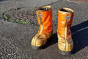 heavy duty fishermen working safety boots Japan