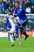 Football - 2016 / 2017 Championship - Cardiff City vs. Aston Villa<br /> <br /> Kenneth Zohore Cardiff City is brought down by  James Chester of Aston Villa--, at Cardiff City Stadium.<br /> <br /> COLORSPORT/WINSTON BYNORTH