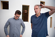 "Thomas Herndon (left) Graduate student at the University of Massachusetts in Amherst and Robert Pollin (right), Co-Director of the Political Economy Research Institute at University of Massachusetts in Amherst, pose for a portrait in the Gordon Hall building in the UMass campus in Amherst, Massachusetts on June 26, 2013. Herndon and Pollin wrote an article that critiques and finds flaws in Reingart's and Rogoff's ""Growth in a Time of Debt"" article."
