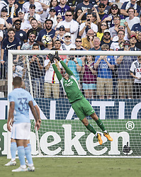July 29, 2017 - Nashville, Tennessee, U.S.A - Manchester City Goalie # 31 EDERSON MORAES.keeps Tottenham from scoring. (Credit Image: © Hoss Mcbain via ZUMA Wire)