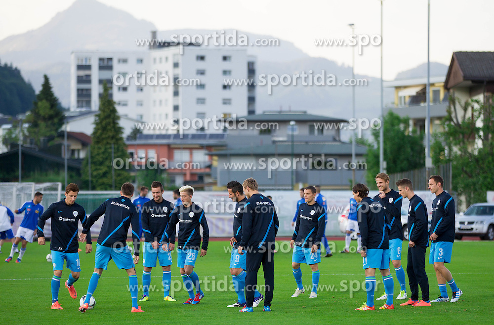 Team Slovenia prior to the friendly football match between national teams of Slovenia and Greece, on May 26, 2012 in Kufstein, Austria.   (Photo by Vid Ponikvar / Sportida.com)