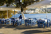 Outdoor dining concept Photographed in Chania, Crete, Greece