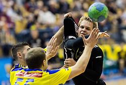 Stas Skube of RK Gorenje during handball match between RK Celje Pivovarna Lasko and RK Gorenje Velenje in Eighth Final Round of Slovenian Cup 2015/16, on December 10, 2015 in Arena Zlatorog, Celje, Slovenia. Photo by Vid Ponikvar / Sportida