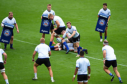 Will Chudley passes the ball, Bath Rugby were allowed to start Stage Two of the Premiership Rugby return to play protocol - Mandatory byline: Patrick Khachfe/JMP - 07966 386802 - 06/08/2020 - RUGBY UNION - The Recreation Ground - Bath, England - Bath Rugby training