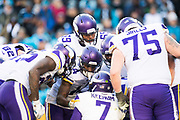 December 10, 2017: Minnesota vs Carolina. Vikings huddle