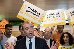 © Licensed to London News Pictures. 01/06/2017. London, UK. Liberal Democrat Leader TIM FARRON attends a party rally at the Shiraz Mirza Community Centre in Norbiton. Photo credit: Rob Pinney/LNP