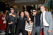 The Ballas Hough Band seen on the checkered carpet at the Regions Bank Snakepit Ball Saturday night.