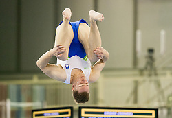 Ziga Silc of Slovenia competes in the Floor Exercise during Qualifiying day  of Artistic Gymnastics World Challenge Cup Ljubljana, on April 18, 2014 in Hala Tivoli, Ljubljana, Slovenia. Photo by Vid Ponikvar / Sportida