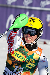 12.12.2010, The Bellevarde race piste, Val D Isere, FRA, FIS World Cup Ski Alpin, Men, Slalom, im Bild HIRSCHER Marcel AUT  is the winner of the race reacts in the finish area after the second run of the alpine skiing world cup slalom race on the Bellevarde race piste Val D'Isere. The race was won by Marcel Hirscher (AUT). EXPA Pictures © 2010, PhotoCredit: EXPA/ M. Gunn