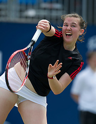 LIVERPOOL, ENGLAND - Saturday, June 18, 2011: Chloe Murphy (GBR) during the Women's Final on day three of the Liverpool International Tennis Tournament at Calderstones Park. (Pic by David Rawcliffe/Propaganda)