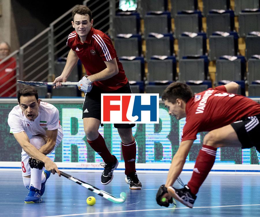 BERLIN - Indoor Hockey World Cup<br /> Men: Iran - Russia<br /> foto: NOORANIAN Hamid.<br /> WORLDSPORTPICS COPYRIGHT FRANK UIJLENBROEK