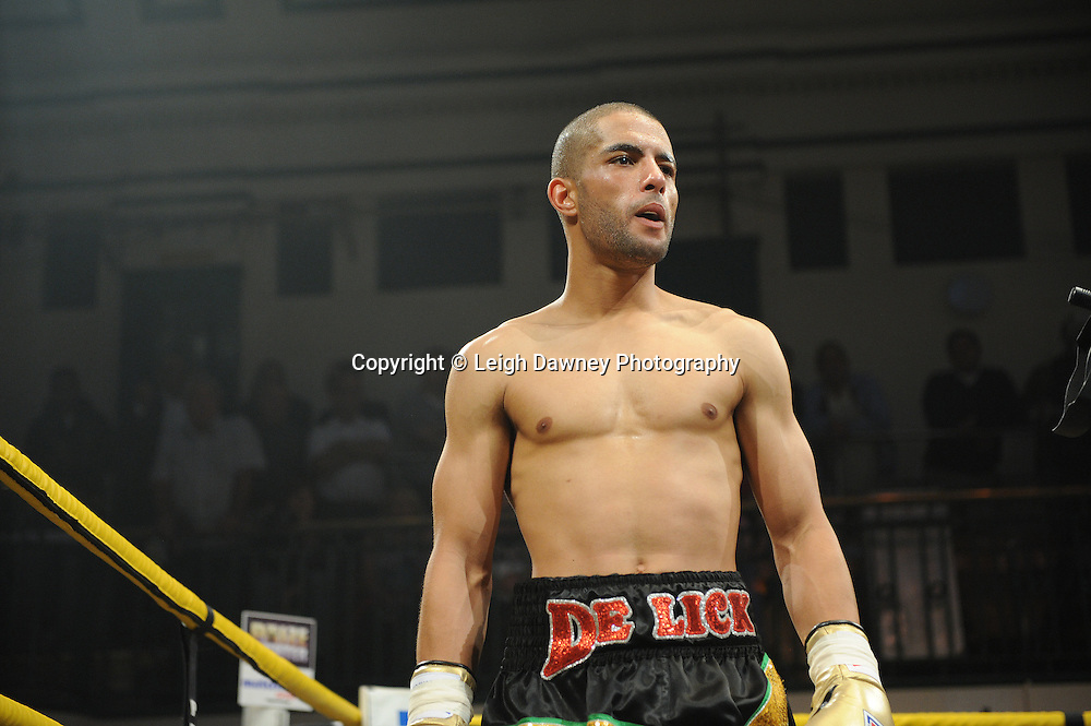 Junior Witter defeats Nathan Graham (pictured) at Quarter Final Two at Prizefighter Welterweights II,York Hall, Bethnal Green ,London. Matchroom Sport/Prizefighter.Photo credit: Leigh Dawney 2011 07.06.11