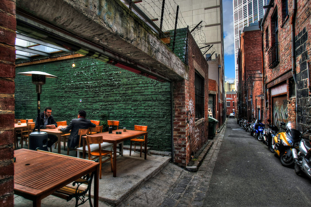 Melbourne's laneways. Flanagans Lane. Pic By Craig Sillitoe CSZ / The Sunday Age.15/06/2012 melbourne photographers, commercial photographers, industrial photographers, corporate photographer, architectural photographers, This photograph can be used for non commercial uses with attribution. Credit: Craig Sillitoe Photography / http://www.csillitoe.com<br />