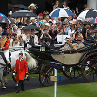 Her Majesty Queen Elizabeth II and Duke of Edinburgh arrive at Ladies Day, Royal Ascot 2007, Thursday 21st Jun 2007