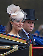 "KATE AND PRINCE WILLIAM.ride in the carriage for the trip from Westminster Hall to Buckingham Palace for the Finale of the 4 day Diamond Jubilee Celebration.  London_05/06/2012.Mandatory Credit Photo: ©J Reynolds/NEWSPIX INTERNATIONAL..**ALL FEES PAYABLE TO: ""NEWSPIX INTERNATIONAL""**..IMMEDIATE CONFIRMATION OF USAGE REQUIRED:.Newspix International, 31 Chinnery Hill, Bishop's Stortford, ENGLAND CM23 3PS.Tel:+441279 324672  ; Fax: +441279656877.Mobile:  07775681153.e-mail: info@newspixinternational.co.uk"