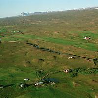 Eyvindará, Uppsalir efst t.h., Egilsstaðir /.Eyvindara, Uppsalir upper right,  Egilsstadir.