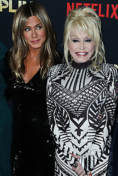 HOLLYWOOD, LOS ANGELES, CA, USA - DECEMBER 06: Singer Dolly Parton arrives at the Los Angeles Premiere Of Netflix's 'Dumplin'' held at the TCL Chinese Theatre IMAX 6 on December 6, 2018 in Hollywood, Los Angeles, California, United States. 06 Dec 2018 Pictured: Jennifer Aniston, Dolly Parton. Photo credit: Xavier Collin/Image Press Agency/MEGA TheMegaAgency.com +1 888 505 6342