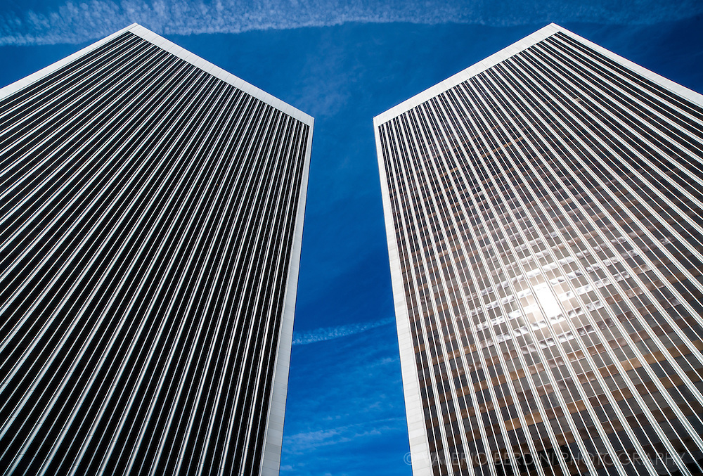 Century Plaza Towers are two 44-story, 174-metre (571 ft) twin towers located at 2029 and 2049 Century Park East in Century City, Los Angeles, California.<br />