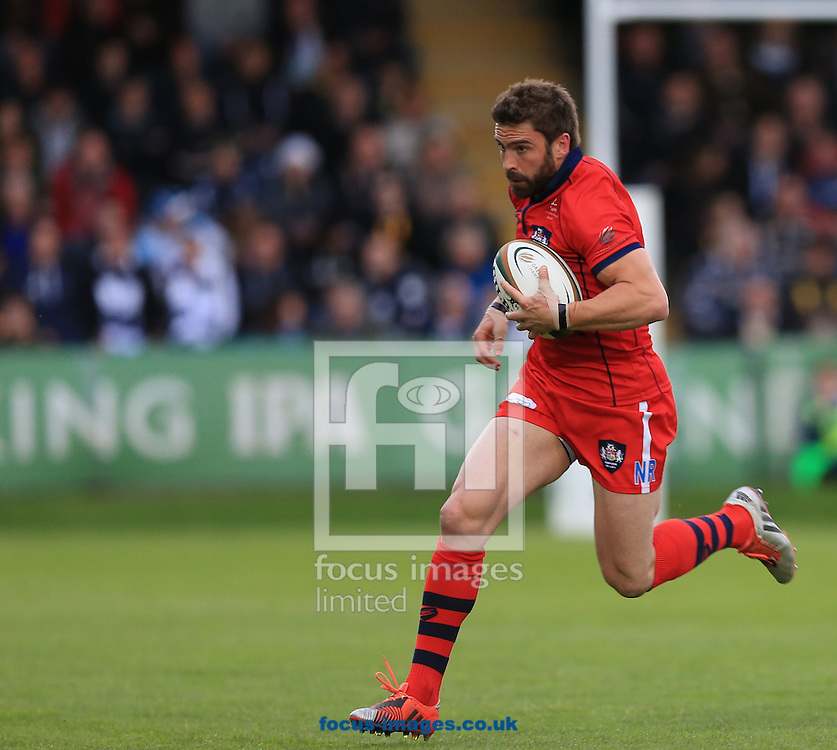 Nicky Robinson of Bristol Rugby during the second leg of the Greene King IPA Championship Final at Sixways Stadium, Worcester<br /> Picture by Michael Whitefoot/Focus Images Ltd 07969 898192<br /> 27/05/2015