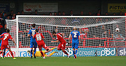 Crawley Town midfielder Simon Walton celebrates after scoring from the penalty spot during the Sky Bet League 2 match between Crawley Town and Leyton Orient at the Checkatrade.com Stadium, Crawley, England on 10 October 2015. Photo by Bennett Dean.