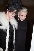 JASMINE GUINNESS; DAPHNE GUINNESS, Isabella Blow: Fashion Galore! private view, Somerset House. London. 19 November 2013