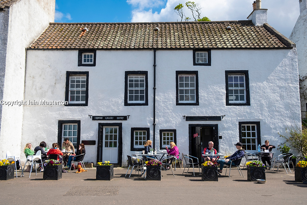 Cramond Gallery Bistro in village of Cramond outside Edinburgh, Scotland, UK