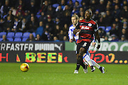 Queens Park Rangers defender Nedum Onuoha clears the ball during the Sky Bet Championship match between Reading and Queens Park Rangers at the Madejski Stadium, Reading, England on 3 December 2015. Photo by Mark Davies.