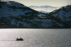 Norway Hammerfest 24MAR07 - Small fishing boat in the Barents Sea near Hammerfest, the world's most northerly town...jre/Photo by Jiri Rezac..© Jiri Rezac 2007..Contact: +44 (0) 7050 110 417.Mobile:  +44 (0) 7801 337 683.Office:  +44 (0) 20 8968 9635..Email:   jiri@jirirezac.com.Web:    www.jirirezac.com..© All images Jiri Rezac 2007 - All rights reserved.
