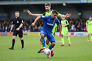 AFC Wimbledon striker Kweshi Appiah (9) dribbling during the EFL Sky Bet League 1 match between AFC Wimbledon and Bolton Wanderers at the Cherry Red Records Stadium, Kingston, England on 7 March 2020.