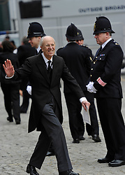 © Licensed to London News Pictures. 17 April 2013. St Paul's Cathedral London. Norman Tebbit.  Funeral of Baroness Thatcher, former Conservative Prime Minister. Photo credit : MarkHemsworth/LNP