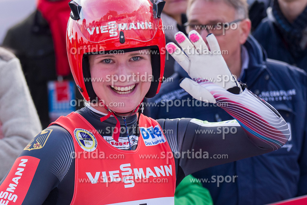 26.11.2016, Winterberg, GER, Viessmann Rennrodel Weltcup, Winterberg, Damen, Einsitzer, im Bild Julia Taubitz GER // during women's single seater of Viessmann Luge World Cup. Winterberg, Germany on 2016/11/26. EXPA Pictures &copy; 2016, PhotoCredit: EXPA/ Rolf Kosecki<br /> <br /> *****ATTENTION - OUT of GER*****