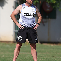 DURBAN, SOUTH AFRICA, 5 September, 2016 - Johan Pretorius Head Strength & Conditioning Coach during The Cell C Sharks training session at Growthpoint Kings Park in Durban, South Africa. (Photo by Steve Haag)<br /> <br /> images for social media must have consent from Steve Haag