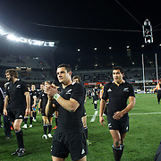 Dan Carter after the All Blacks victory during the New Zealand V Australia Tri-Nations, Bledisloe Cup match at Eden Park, Auckland. New Zealand. 6th August 2011. Photo Tim Clayton