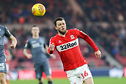 Middlesbrough midfielder Jonny Howson (16) in action during the EFL Sky Bet Championship match between Middlesbrough and Millwall at the Riverside Stadium, Middlesbrough, England on 19 January 2019.