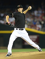 PHOENIX, AZ - MAY 27:  Pitcher Tyler Skaggs #37 of the Arizona Diamondbacks pitches against the Texas Rangers in the first inning of an interleague game at Chase Field on May 27, 2013 in Phoenix, Arizona.  (Photo by Jennifer Stewart/Getty Images) *** Local Caption *** Tyler Skaggs
