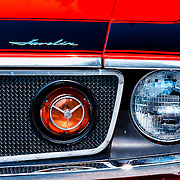 1972 AMC Javelin AMX frond end head light detail