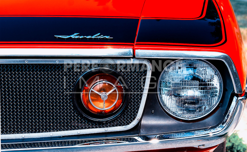 1972 AMC Javelin AMX frond end head light detail