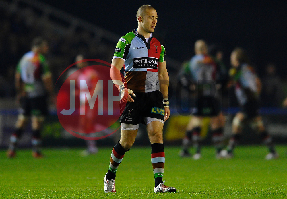 Harlequins Full Back (#15) Mike Brown looks on during the second half of the match - Photo mandatory by-line: Rogan Thomson/JMP - Tel: Mobile: 07966 386802 03/11/2012 - SPORT - RUGBY - Twickenham Stoop - London. Harlequins v Gloucester - Aviva Premiership