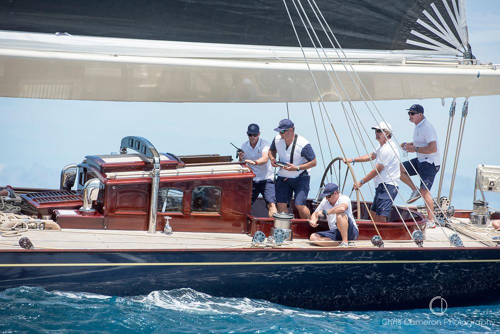 Bermuda, 13th June 2017. America's Cup Superyacht regatta. J Class, Velsheda JK7