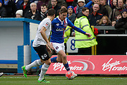 Carlisle United Defender Matt Douglas  on the attack during the The FA Cup fourth round match between Carlisle United and Everton at Brunton Park, Carlisle, England on 31 January 2016. Photo by Craig McAllister.