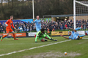 Forest Green Rovers Reuben Reid(26) shoots at goal  during the EFL Sky Bet League 2 match between Forest Green Rovers and Coventry City at the New Lawn, Forest Green, United Kingdom on 3 February 2018. Picture by Shane Healey.