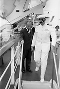 2/7/1964<br /> 7/2/1964<br /> 2 July 1964<br />  Captian David B McMichael of the N.S. Savannah, Mr. Erskine H. Childers the Minister for Transport and Power on a tour of the ship