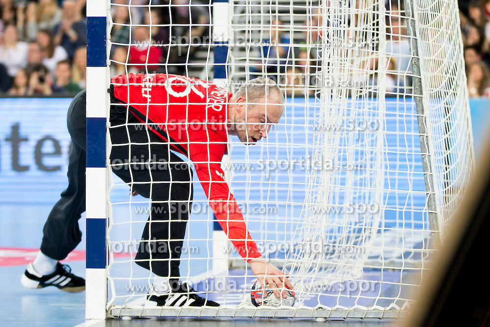 Thierry Omayer #16 of Paris Sant-Germain during handball match between PPD Zagreb (CRO) and Paris Saint-Germain (FRA) in 11th Round of Group Phase of EHF Champions League 2015/16, on February 10, 2016 in Arena Zagreb, Zagreb, Croatia. Photo by Urban Urbanc / Sportida