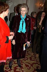 HRH PRINCESS ALEXANDRA at a reception following a charity carol service in aid of the Mental Health Foundation attended by HRH Princess Michael of Kent and held at the Hype Park Mandarin Oriental Hotel, Knightsbridge, London on 30th November 2004.<br />