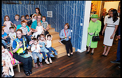 June 14, 2018 - Cheshire, Cheshire, United Kingdom - The Queen and The Duchess of Sussex visit Cheshire. Britain's Queen Elizabeth and Meghan, the Duchess of Sussex, visit the Storyhouse in Chester. (Credit Image: © i-Images via ZUMA Press)